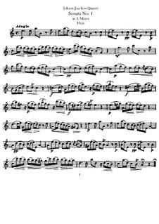Sonata for Flute and Basso Continuo No.1, QV 1:152 Op.1: Solo part by Johann Joachim Quantz