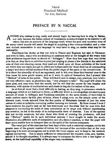 Practical Method of Italian Singing for Alto and Baritone: Practical Method of Italian Singing for Alto and Baritone by Nicola Vaccai