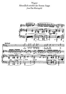 The Rhine Gold, WWV 86a: Abendlich strahlt der Sonne Auge by Richard Wagner