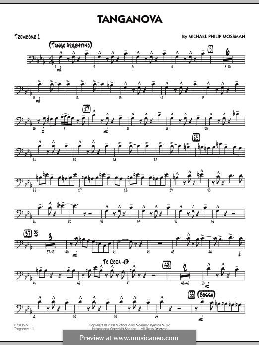 Tanganova: Trombone 1 part by Michael Philip Mossman