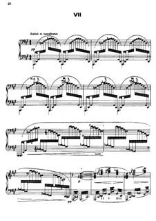 No.7 Ce qu'a vu le vent d'ouest : For piano by Claude Debussy