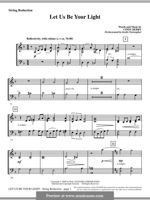 Let Us Be Your Light: Keyboard String Reduction part by Cindy Berry