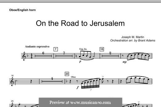 On The Road To Jerusalem: Oboe part by Joseph M. Martin