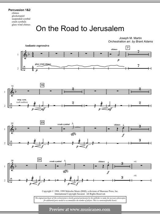 On The Road To Jerusalem: Percussion 1 & 2 part by Joseph M. Martin