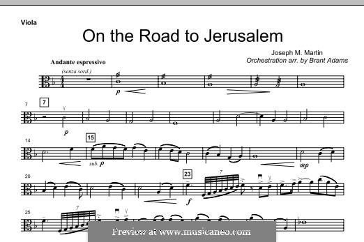 On The Road To Jerusalem: Viola part by Joseph M. Martin
