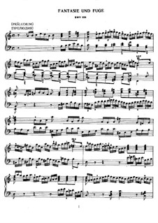 Prelude and Fugue in A Minor, BWV 894: For piano by Johann Sebastian Bach