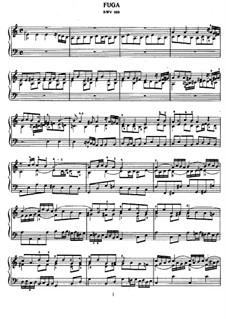 Fugue in A Minor, BWV 958: For piano by Johann Sebastian Bach