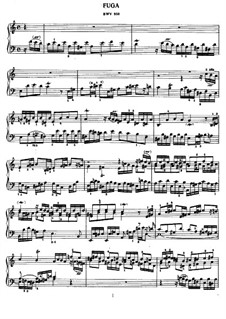 Fugue in A Minor, BWV 959: For piano by Johann Sebastian Bach