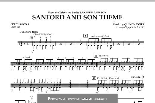 Sanford and Son Theme (arr. John Moss): Percussion 1 part by Quincy Jones