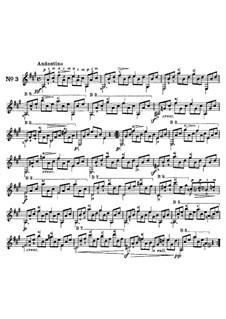 Twenty-Five Etudes for Guitar, Op.60: No.3 by Matteo Carcassi
