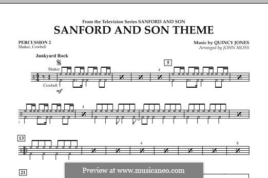 Sanford and Son Theme (arr. John Moss): Percussion 2 part by Quincy Jones