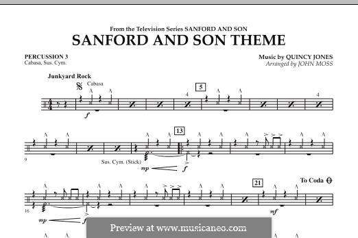 Sanford and Son Theme (arr. John Moss): Percussion 3 part by Quincy Jones