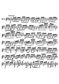 Twenty-Five Etudes for Guitar, Op.60: No.5 by Matteo Carcassi