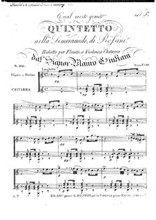 Quintet 'Qual mesto gemito' from 'Semiramide' by Rossini for Flute (or Violin) and Guitar: Quintet 'Qual mesto gemito' from 'Semiramide' by Rossini for Flute (or Violin) and Guitar by Mauro Giuliani
