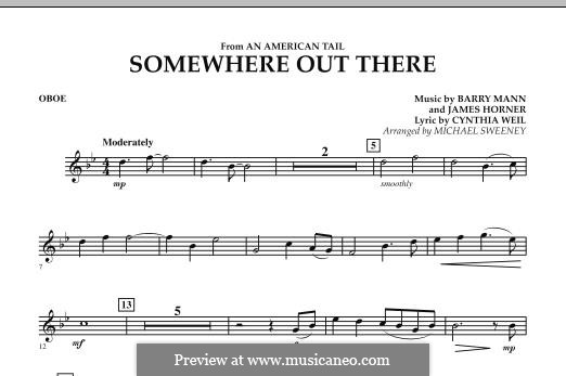 Somewhere Out There (from An American Tail) arr. Michael Sweeney: Oboe part by Barry Mann, Cynthia Weil, James Horner