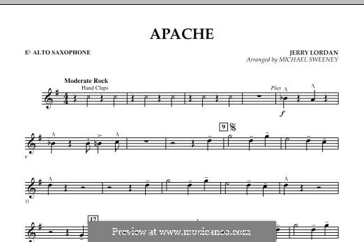Apache (Percussion Section Feature): Eb Alto Saxophone part by Jerry Lordan