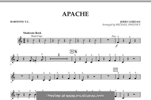 Apache (Percussion Section Feature): Baritone T.C. part by Jerry Lordan