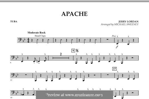 Apache (Percussion Section Feature): Tuba part by Jerry Lordan