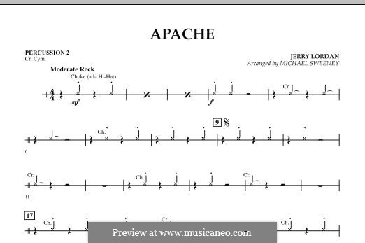 Apache (Percussion Section Feature): Percussion 2 part by Jerry Lordan