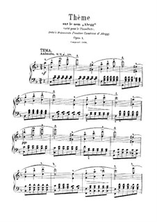 Variations on the Name 'Abegg', Op.1: For a single performer by Robert Schumann