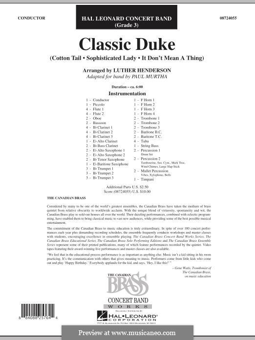 Classic Duke: Full Score by Duke Ellington