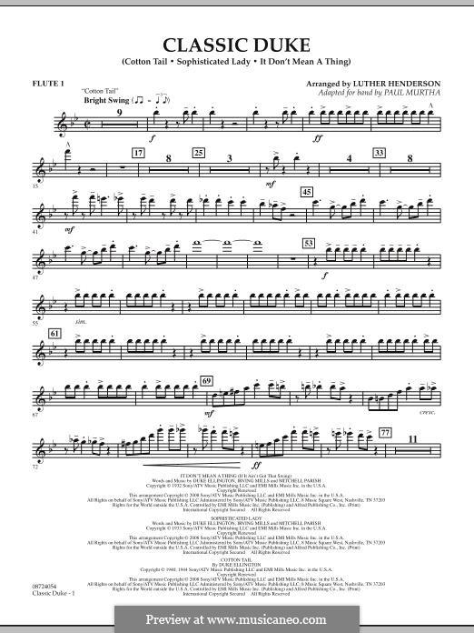 Classic Duke: Flute 1 part by Duke Ellington