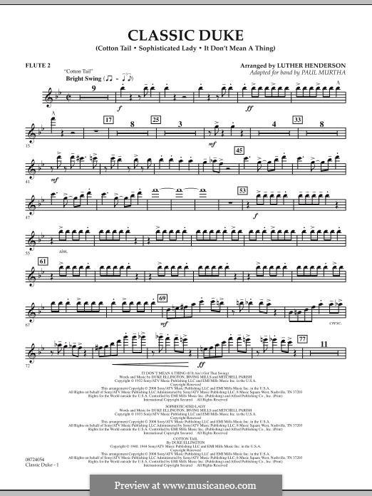Classic Duke: Flute 2 part by Duke Ellington