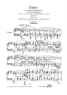 Symphonic Etudes, Op.13: Complete set by Robert Schumann