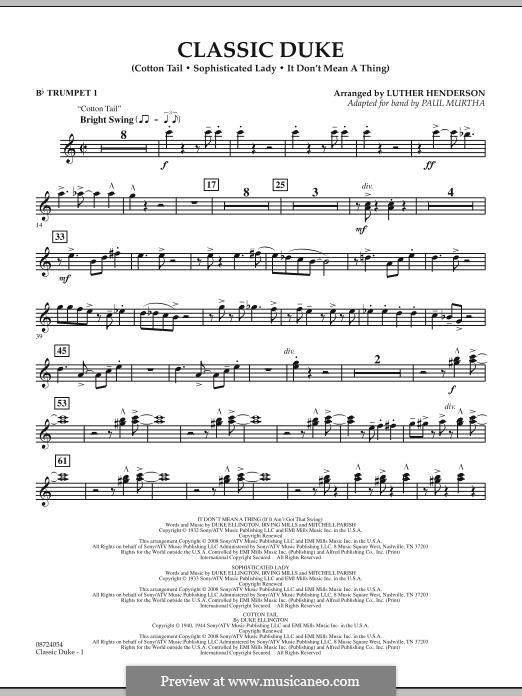 Classic Duke: Bb Trumpet 1 part by Duke Ellington
