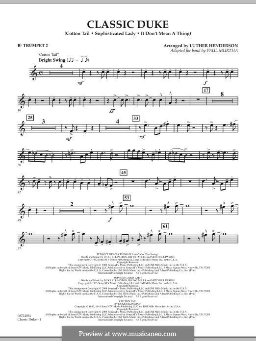 Classic Duke: Bb Trumpet 2 part by Duke Ellington