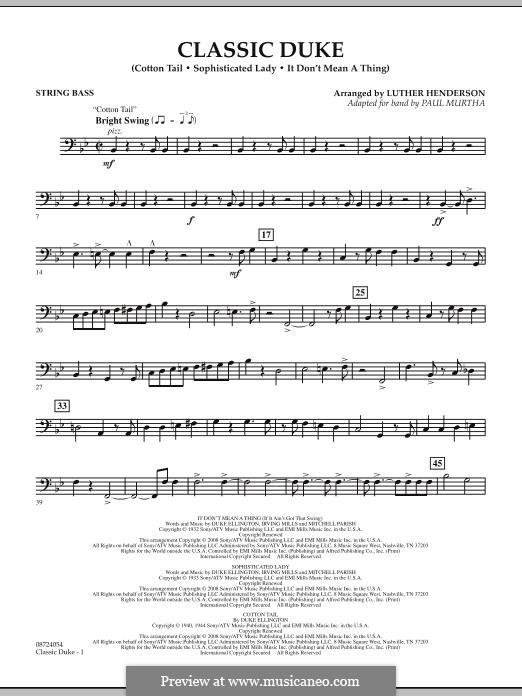 Classic Duke: String Bass part by Duke Ellington