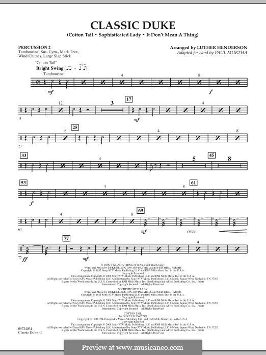 Classic Duke: Percussion 2 part by Duke Ellington