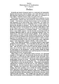 Masterpieces of Vocalization for Soprano: Masterpieces of Vocalization for Soprano by Auguste-Matthieu Panseron, Heinrich Panofka, Mathilde Marchesi, Francesco Lamperti, Giuseppe Concone, Luigi Lablache, Ferdinand Sieber, Giovanni Marco Bordogni, Luigi Bordese, Gaetano Nava