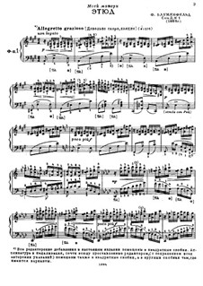 Selected Etudes for Piano: Part I by Felix Blumenfeld