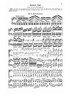 Complete Opera: Act I – piano-vocal score by Carl Maria von Weber