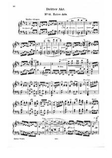 Complete Opera: Act III – piano-vocal score by Carl Maria von Weber