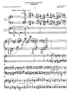 Piano Concerto in A Minor, Op.16: Arrangement for two pianos four hands by Edvard Grieg