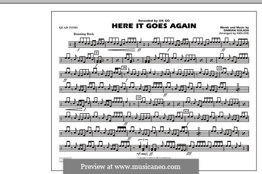 Here It Goes Again (OK Go): Quad Toms part by Damian Kulash