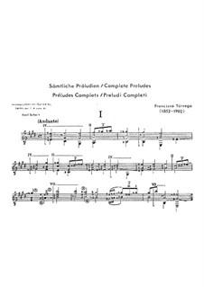 Preludes: Prelude No.15 by Francisco Tárrega