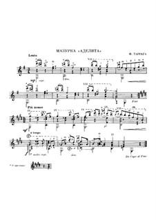 Adelita: For guitar by Francisco Tárrega