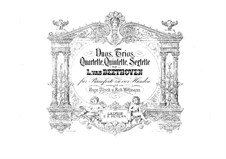 Four Trios for Violin, Cello and Piano: Version for piano four hands by Ludwig van Beethoven