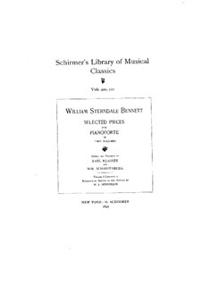 Selected Pieces for Piano: Volume II by William Sterndale Bennett