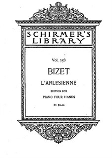 Suite I: For piano four hands by Georges Bizet