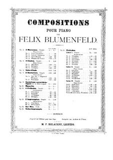 Twenty Four Preludes, Op.17: Preludes No.13, 15-17 by Felix Blumenfeld