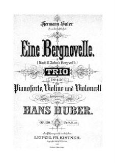 Piano Trio No.4, Op.120: Movement I by Hans Huber