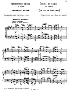 The Fair: For piano by Modest Mussorgsky