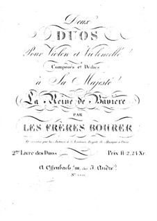 Two Duos for Violin and Cello: Parts by Antoine Bohrer