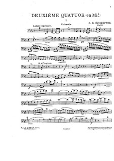 Piano Quartet in E Flat Major, Op.91: Strings parts by René de Boisdeffre