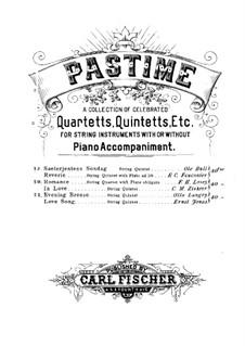 Sæterjentens Søndag (The Herdgirl's Sunday): Arrangement for string quintet  – violin I part by Ole Bull