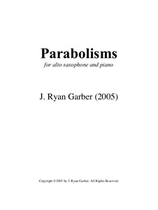 Parabolisms: Parabolisms by J. Ryan Garber